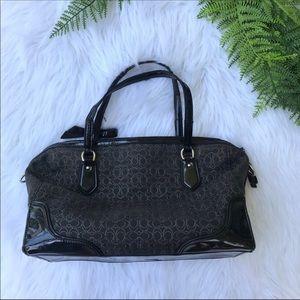 [Coach] Black and Silver Handbag with Bow